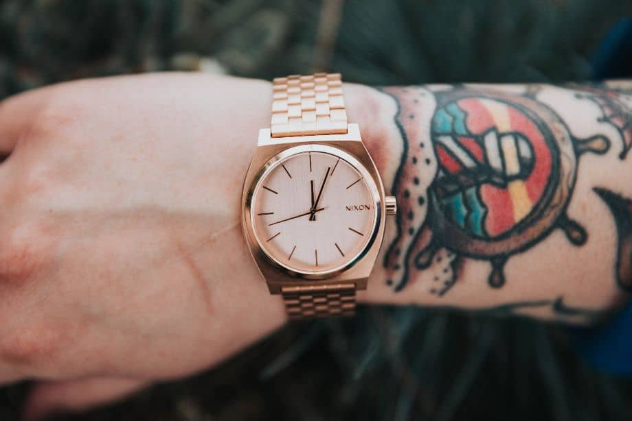 Rose Gold Watch on a Guy