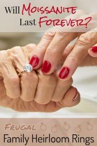 Elderly Woman Showing Her Moissanite Heirloom Ring