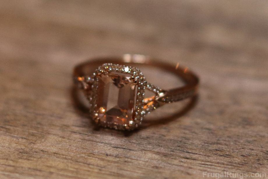 Rose Gold and Morganite Engagement Ring with Halo